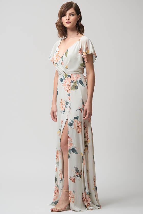 Alanna Print in Ivory / Sage Multi - Jenny Yoo
