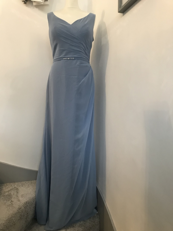 Pure Elegance with Bling in Petrol Blue - True Bridesmaid