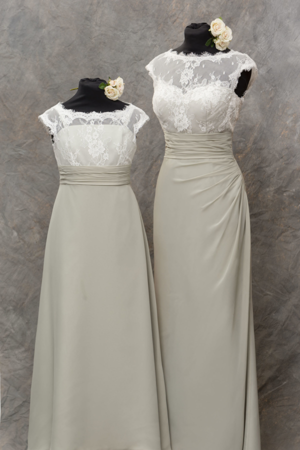 Lace Elegance - Junior in Salmon - True Bridesmaid