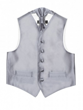 Page boy Waistcoat and Cravat in Salmon - Little People