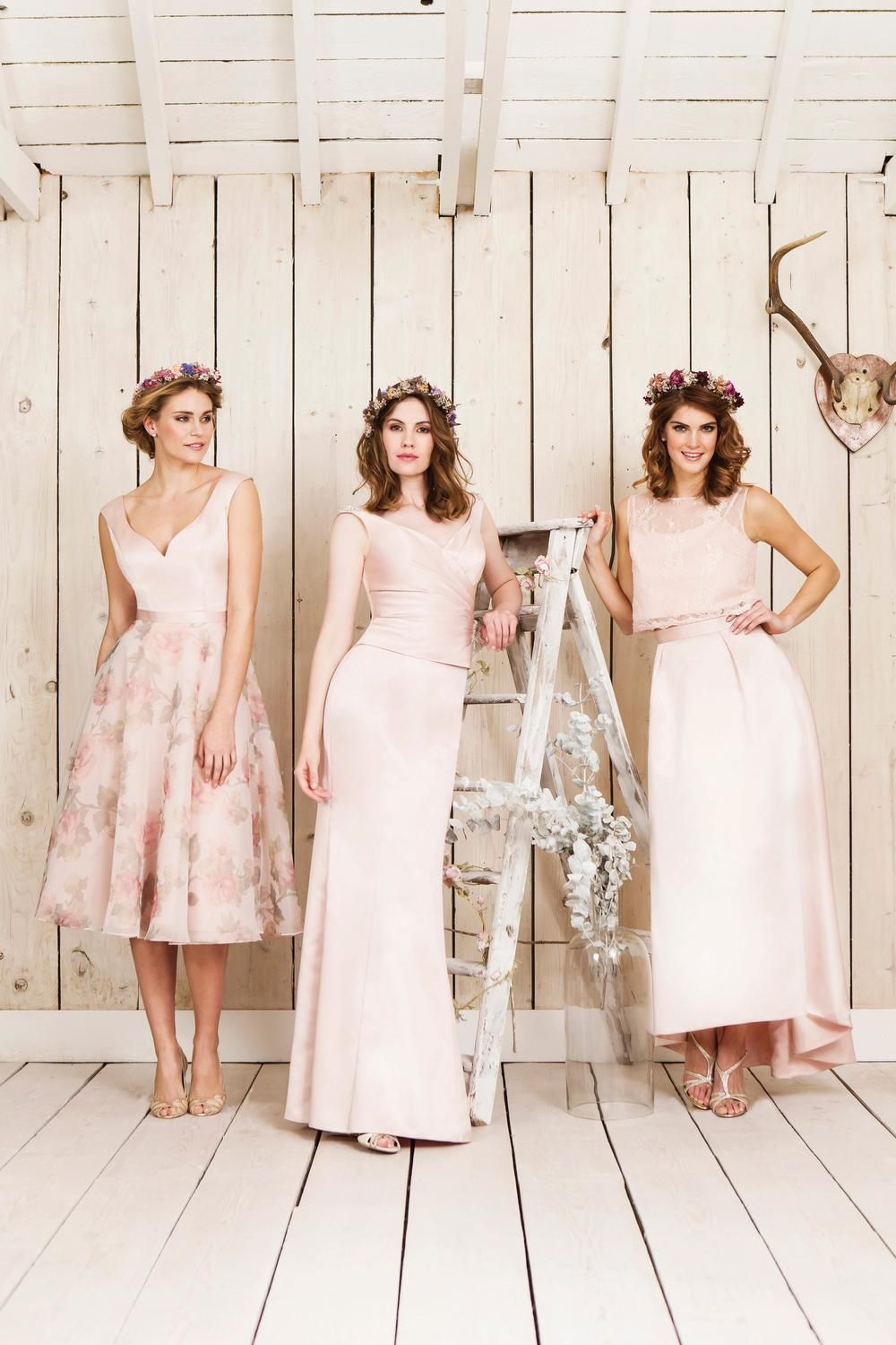 floral mix and match bridesmaids by true bride