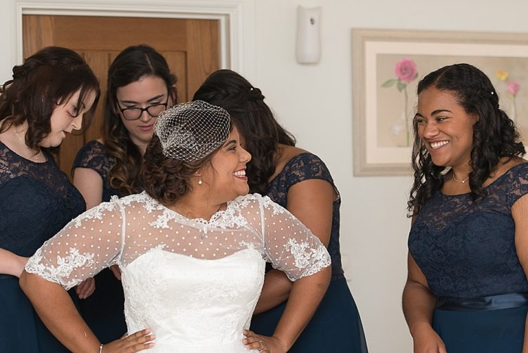 bridesmaids on the big day