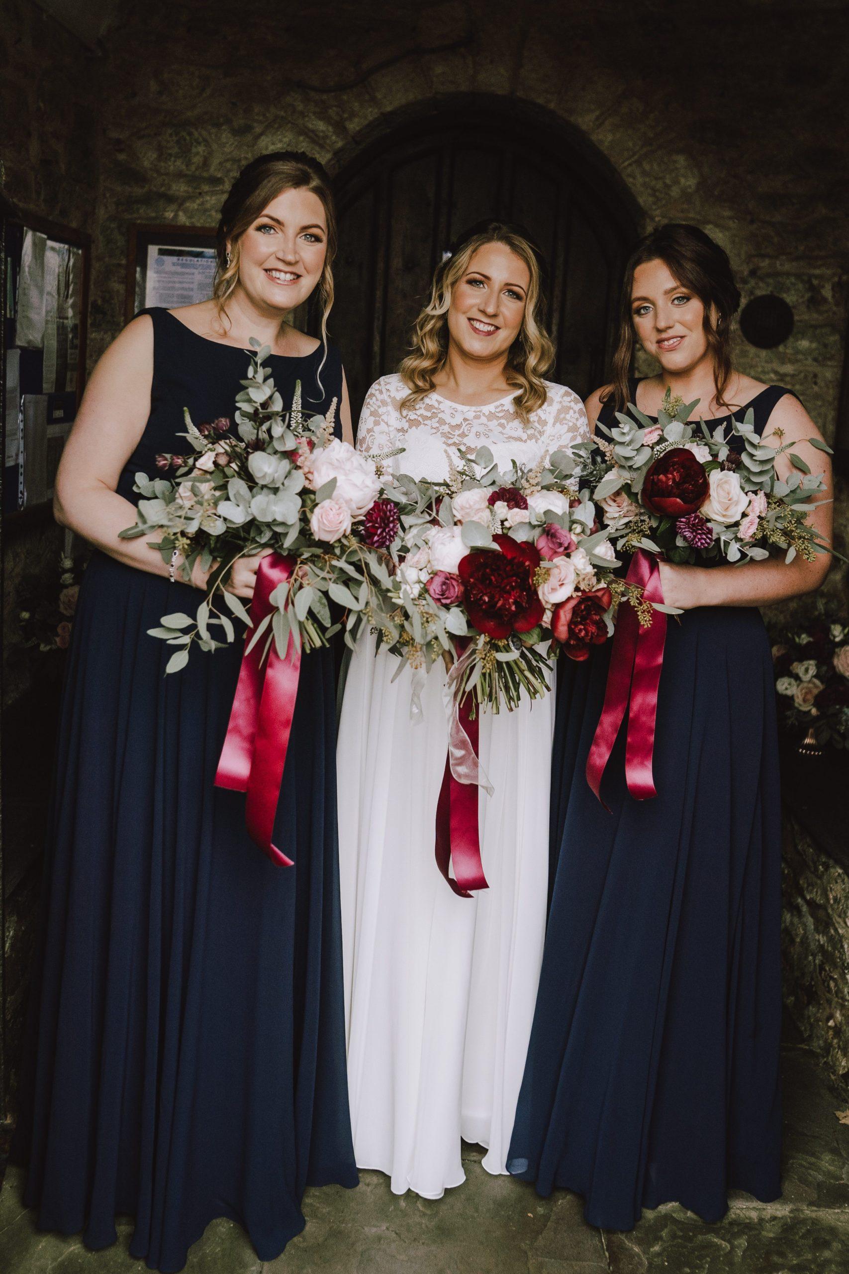 real bridesmaids in navy