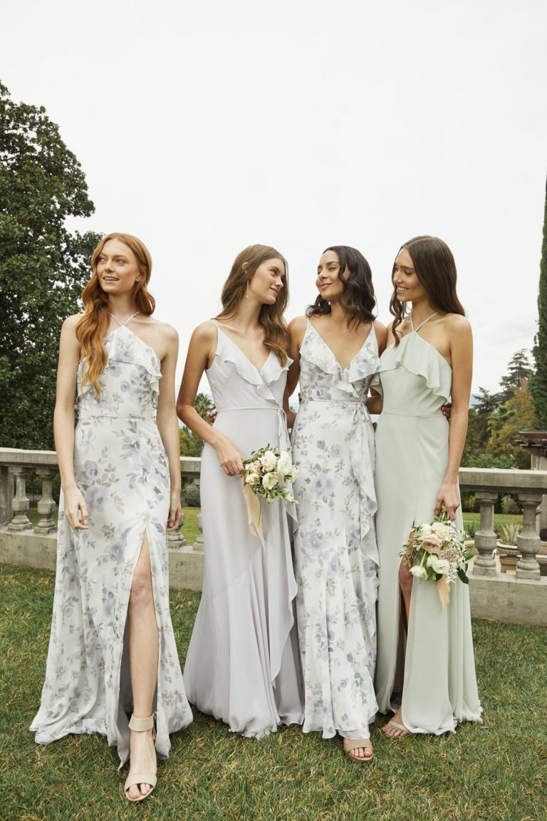 floral bridesmaids dress trends for 2022