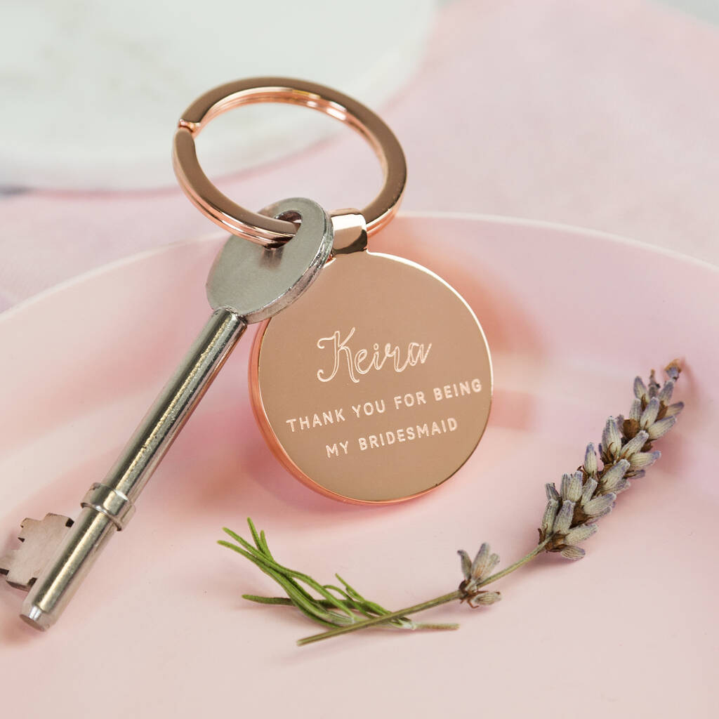 Thank you For Being My Bridesmaid Keyring