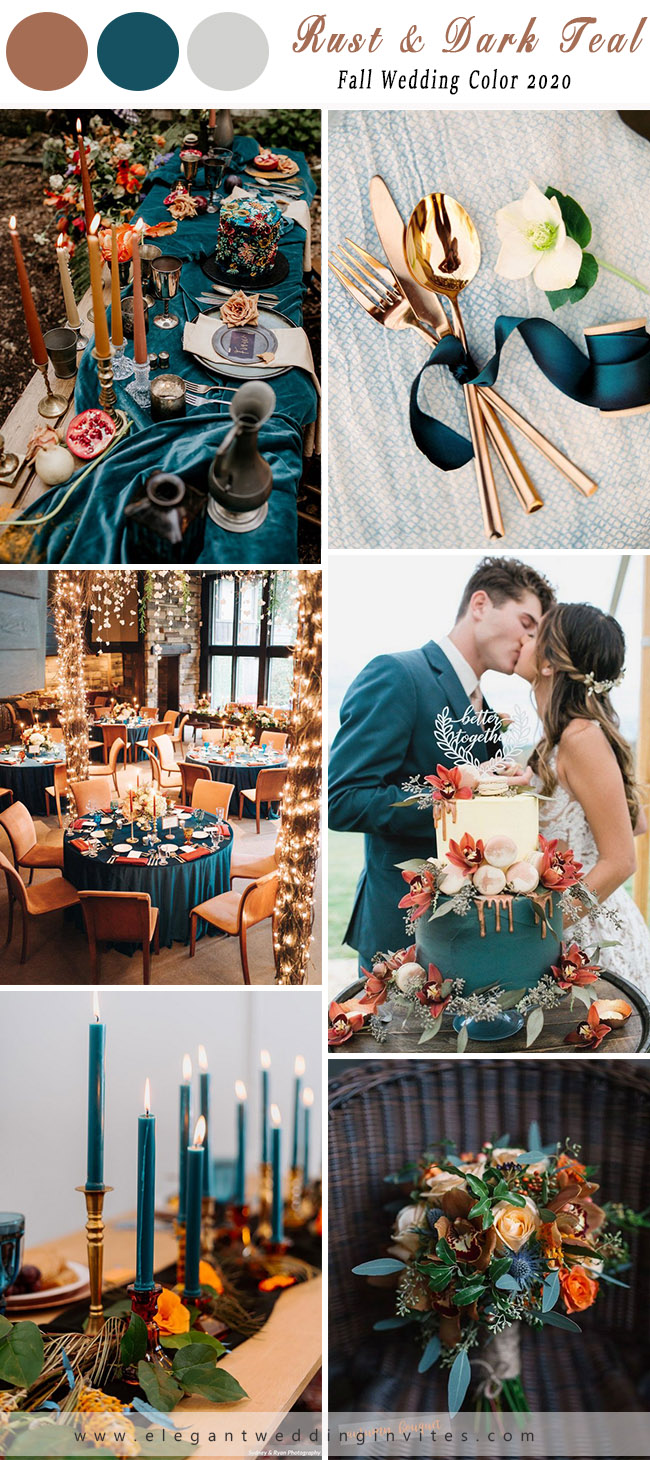 rust and teal colour theme